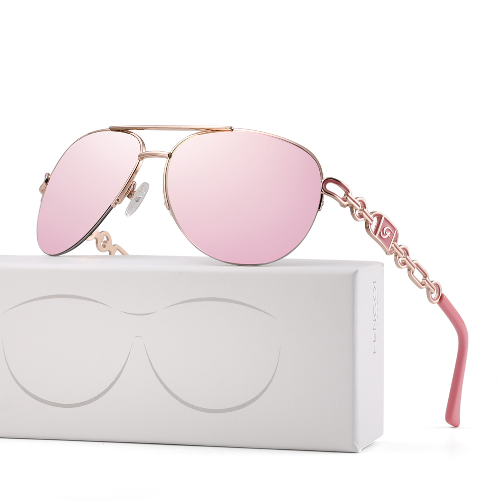 FENCHI sunglasses women uv 400 oculos female glasses sun glasses mirror Pilot Pink feminino zonnebril dames gafas de sol mujer 17