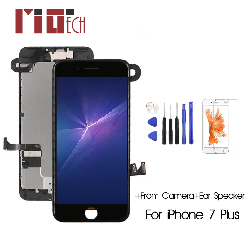 For iPhone 7 Plus LCD Display Touch Screen +Front Camera+Ear Speaker No Home Button Full Assembly For iPhone 6 6s 7 8 Plus image