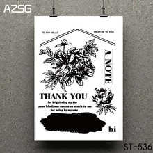 AZSG Blessing of friends Clear Stamps/seal for DIY Scrapbooking/Card Making/Photo Album Decoration Supplies