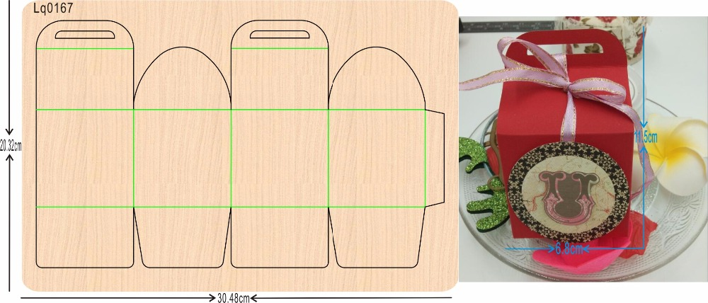 Red box  new wooden mould cutting dies for scrapbooking Thickness-15.8mmRed box  new wooden mould cutting dies for scrapbooking Thickness-15.8mm