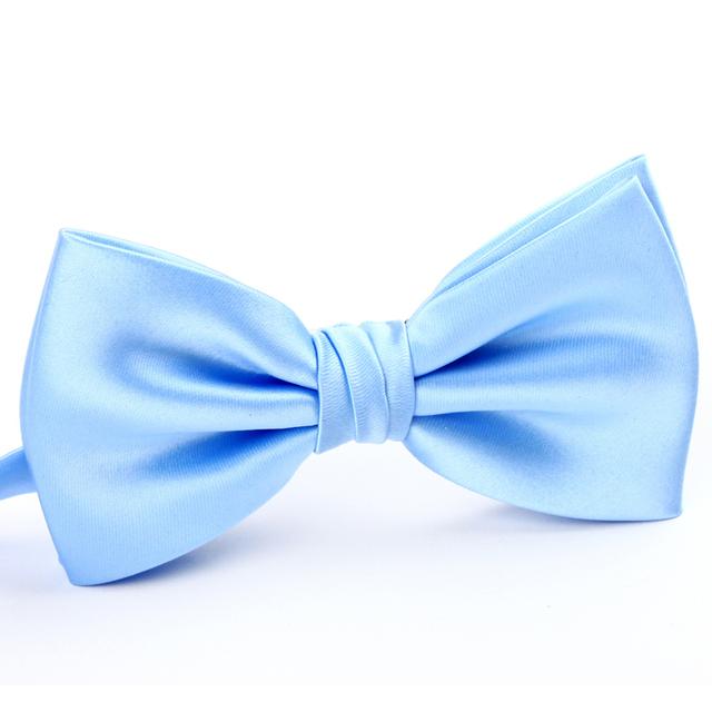 2016 Moda Mariposa Corbata Para Los Hombres Ocasionales Del Todo-Fósforo Pajarita masculino Doble Capa Pajarita Moda pajarita lj005 Azul claro marca