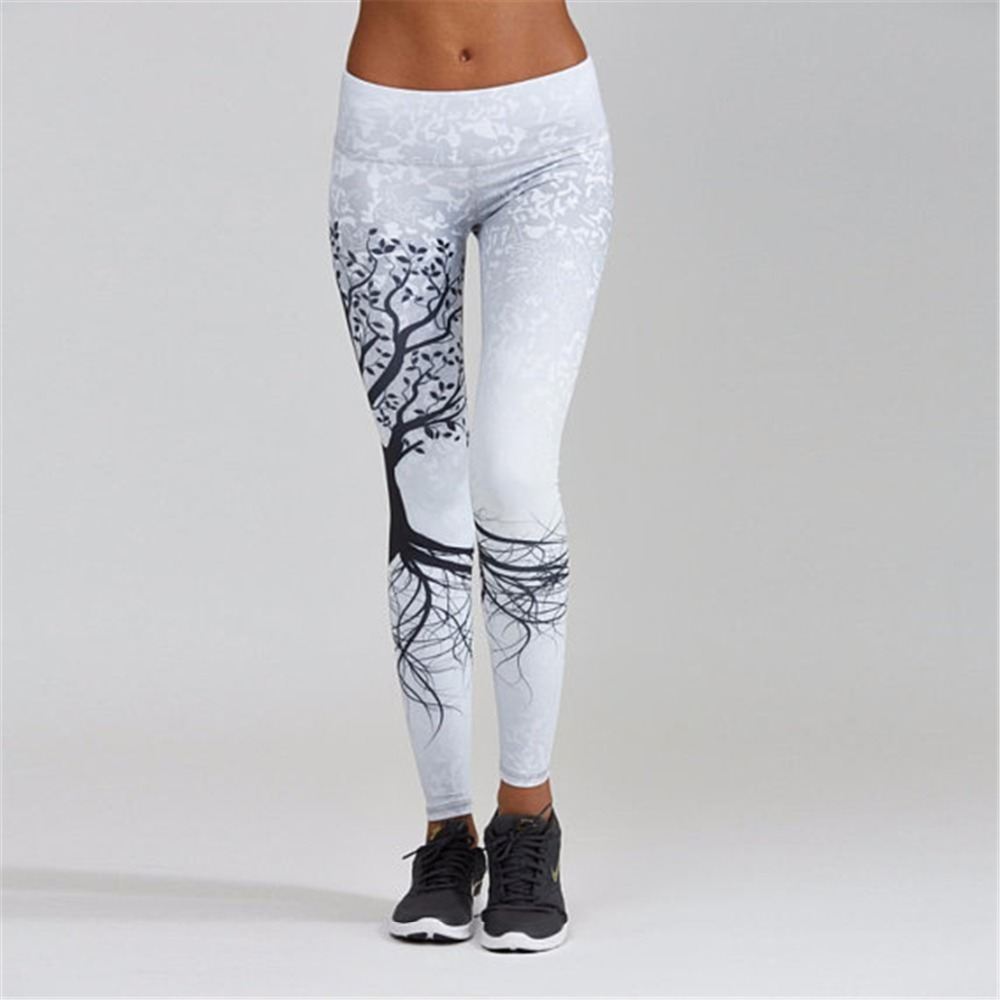 Women's   Leggings   Mandala Mint Print tree Fitness Quick Dry Leggins Elasticity Legins Pants for women   legging   Trousers Clothing