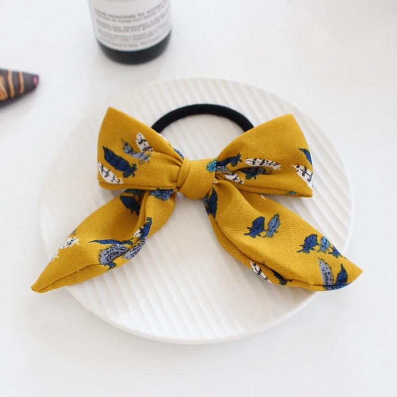 Nuevas mujeres niñas Vintage estampado de flores rayas bowknot lazos - Accesorios para la ropa
