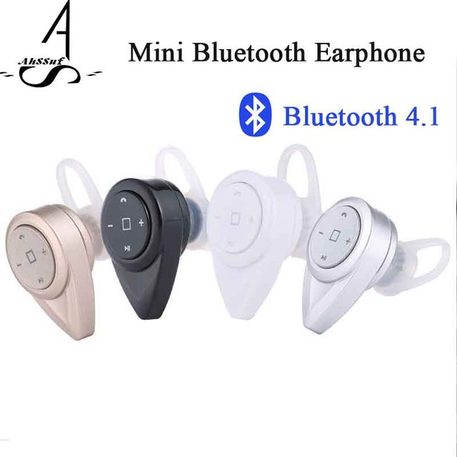 AhSSuf Earphones Bluetooth4.1 In ear Handfree Mini Driving Ecouteur Wireless Noise Cancelling Consumer Electronics Stereo Sound