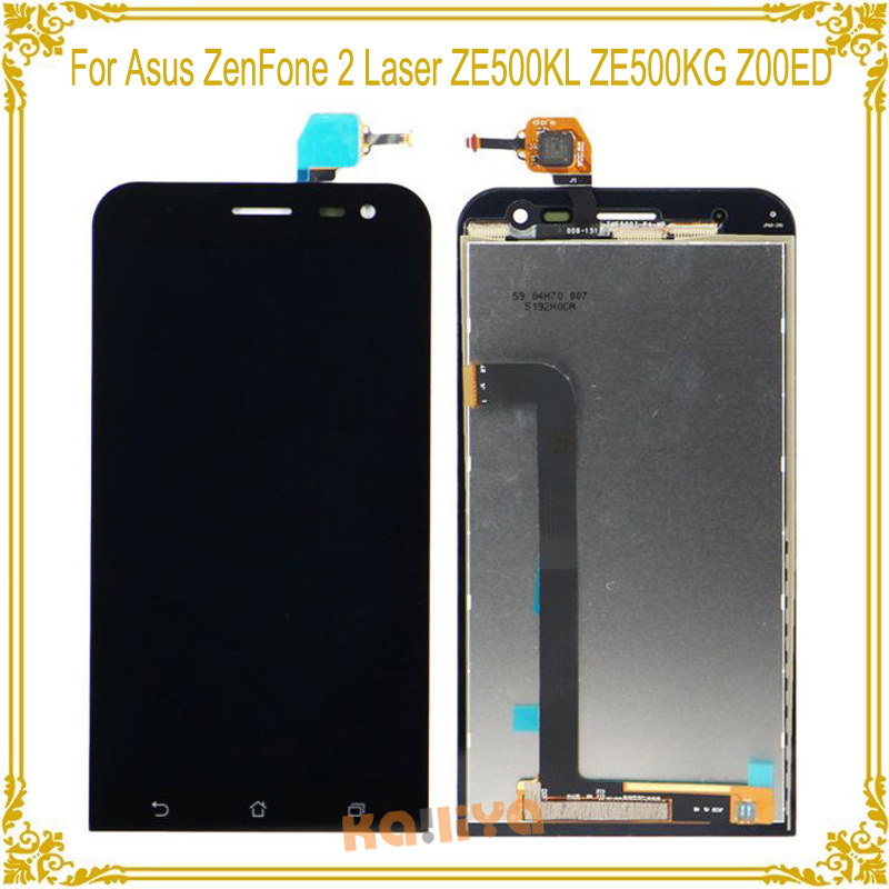 imágenes para Para Asus ZenFone 2 Láser ZE500KL ZE500KG Z00ED LCD Pantalla Digitalizador Asamblea Reemplazo + 5.0 pulgadas de Pantalla Táctil Para ZE500KL