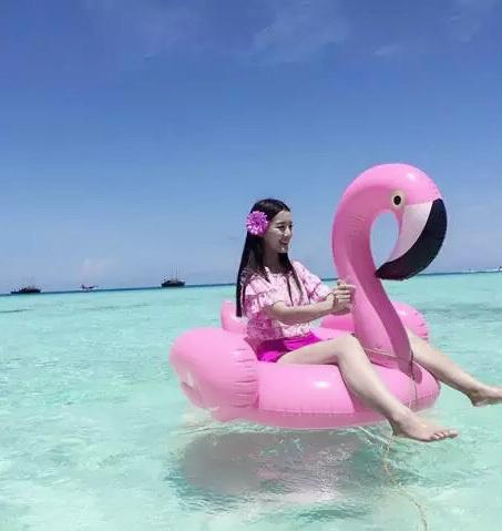 1 Pcs PVC Verão Flamingo Projeto Piscina de Natação Float Anel Cama Flutuante Para Crianças