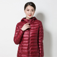 Spring and Autumn Coat Women 2016 New ultra-light thin of large size short paragraph hooded duck down jacket women YT233