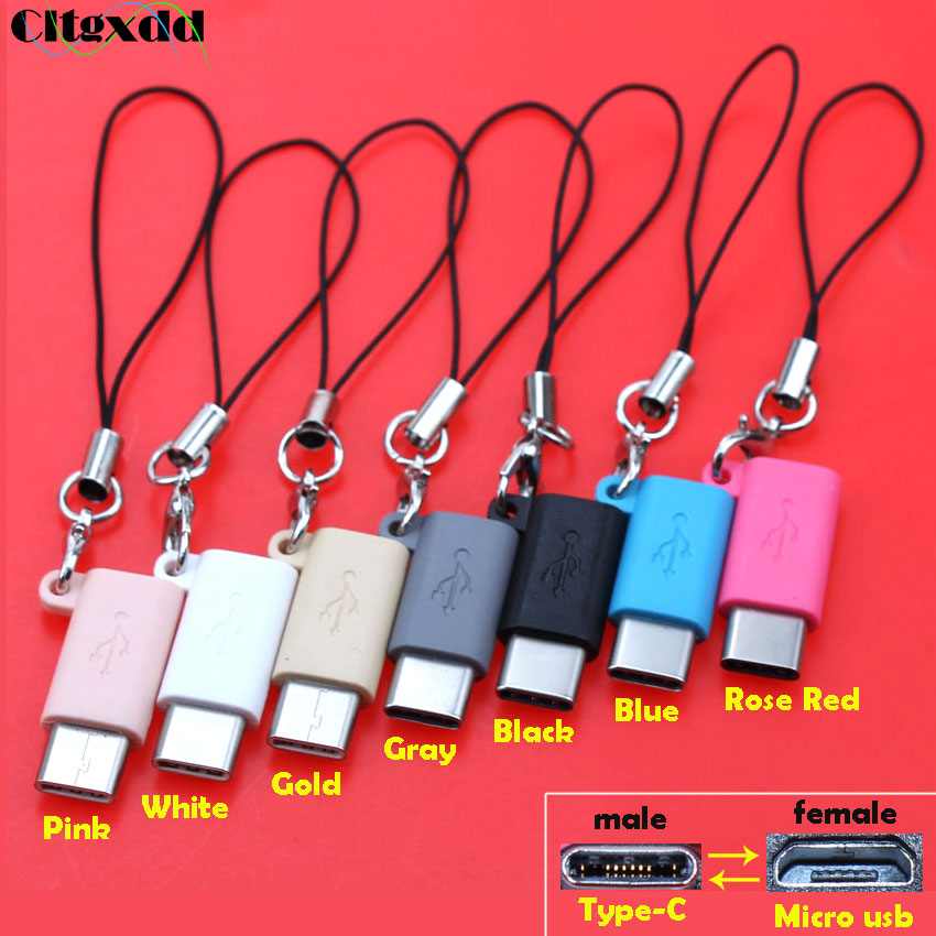 Cltgxdd Micro USB Female To Type C Male Cable Adapter Charge Data Sync Support OTG USB Converter For Samsung Xiaomi Huawei