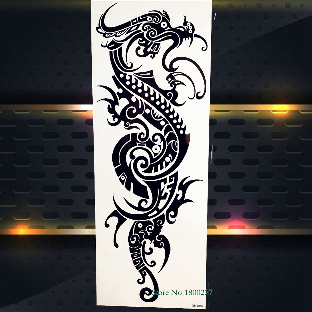 Big Full Arm Flash Temporary Tattoo Sticker 3