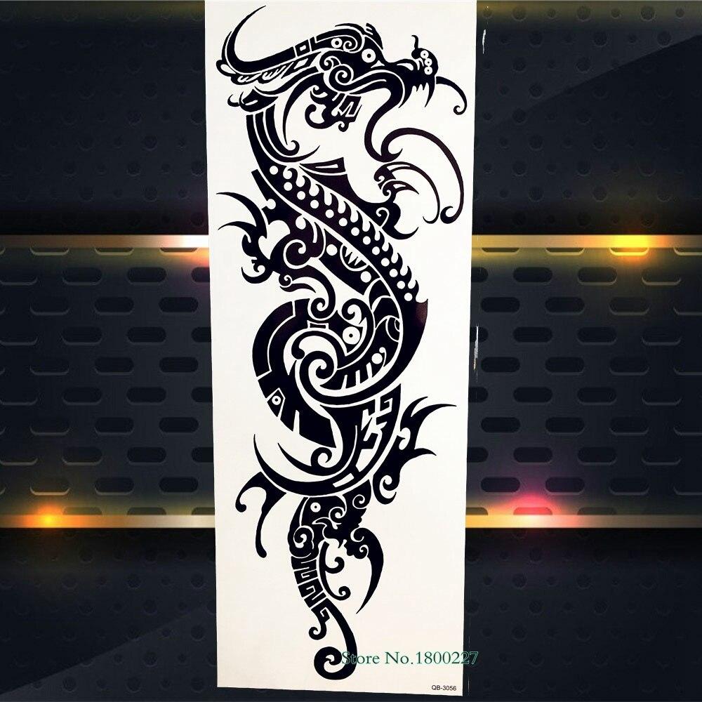 Big Full Arm Flash Temporary Tattoo Sticker 3