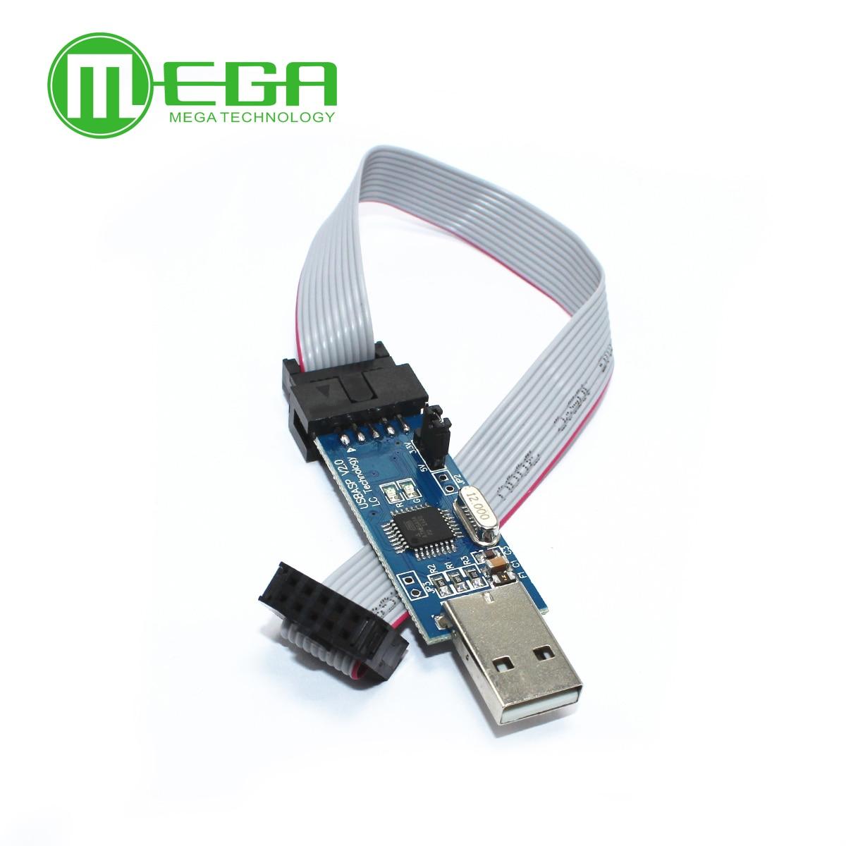 B202 1 шт. Новый USBASP USBISP AVR программист USB ISP USB ASP ATMEGA8 ATMEGA128 Поддержка Win7 64 К ...