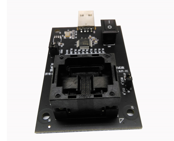 eMMC100 to USB interface test seatscoket BGA100 test chip adapter Pitch 1 0mm 88pin Size 12