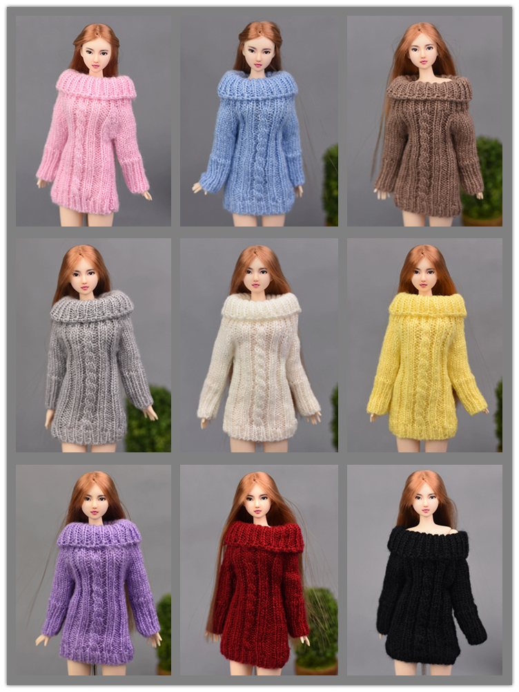 New 2017 Winter Wear Sweater 4 Colors Fashion Clothing Cotton Wool Outfit Clothes For 1/6 Toy Barbie Doll|clothes for barbie|clothes for barbie dollsclothes for dolls - AliExpress
