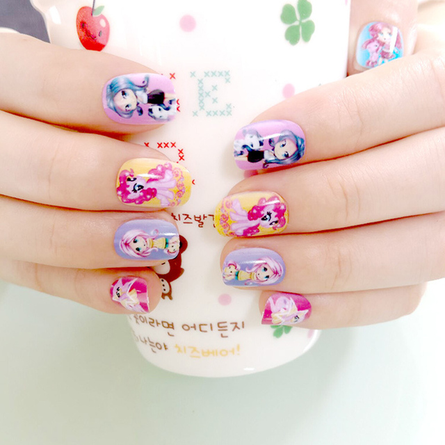 So Cute20pcslot Kawaii Nail Stickers With Gum Lovely Sticker