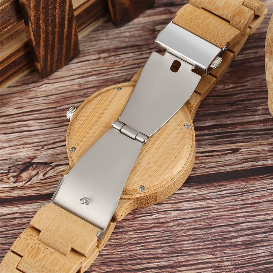 Bamboo zebra wood watch roman numerals dial ladies watch12