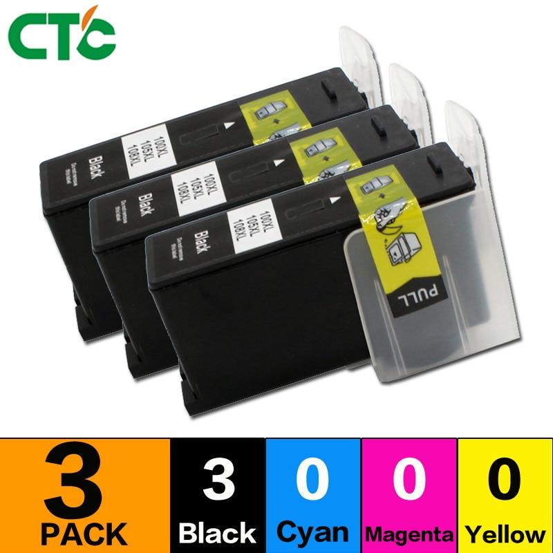 3black Compatible for Lexmark 100 108 XL ink cartridge for S305 S308 S405 S408 S505 S508 S605 S608 S708 S208 S205 S305 Printer