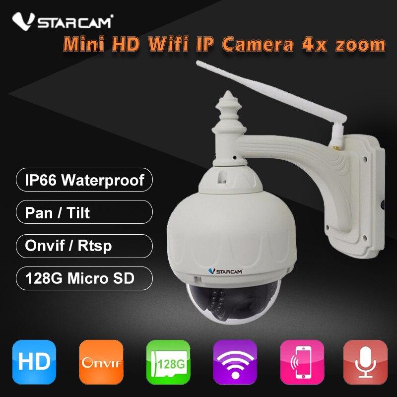 US $99 0 30% OFF|VStarcam Wireless PTZ Dome IP Camera Outdoor 720P HD 4X  Zoom CCTV Security Video Network Surveillance IP Camera Wifi-in  Surveillance