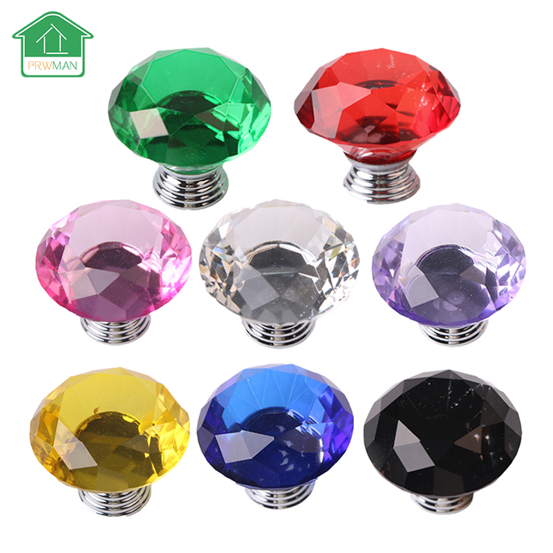 5 Pcs Door Handle Knob for furniture 50mm Diamond Shape Crystal Glass Drawer Cabinet Kitchen Pull Handles Knobs Handle Wardrobe магниты из гипса disney феи
