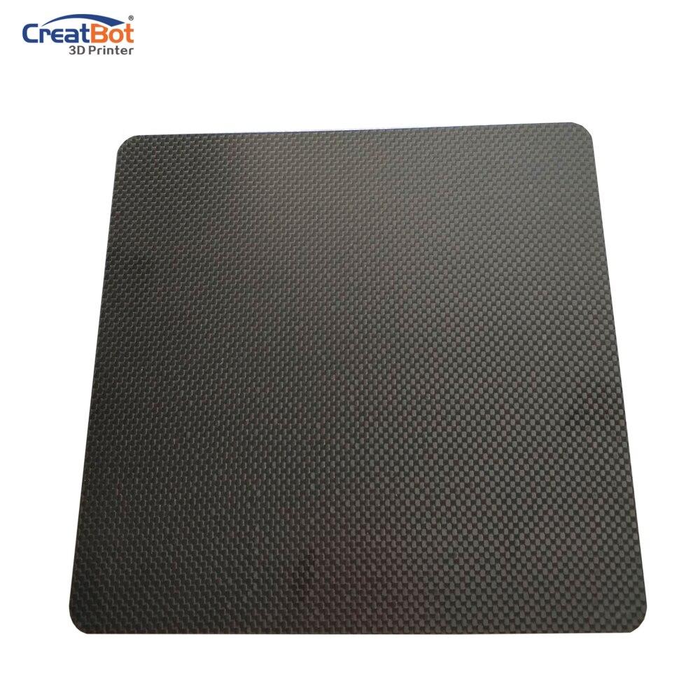 CreatBot carbon board for peek filament printing high temperature for F160 3D Printer Original 3D printer parts qidi technology high temperature alloy aluminum board for qidi tech i 3d printer