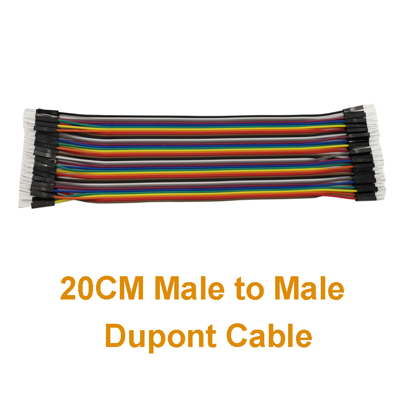 40pcs In Row Male To Male Dupont Cable
