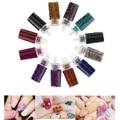 12 Cor Minúsculo Talão Caviar Nail Art Conjunto Garrafa Mini Pérolas redondas para Francês Acrílico UV Gel Dicas DIY 3D decoração