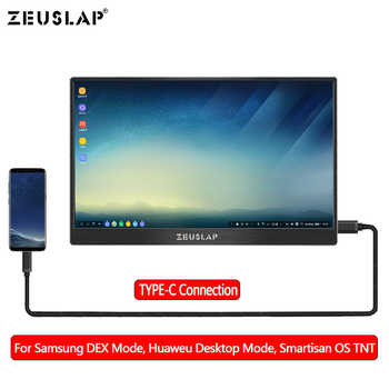 13.3inch Portable LED LCD Monitor Screen for Samsung S8 DEX, Macbook Pro, Switch, PS3, PS4 extending Screen