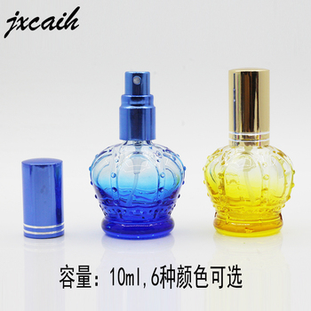 XYZ- 15ML Clear glass perfume bottles with Colorful Cap ,Beautiful Empty glass 5ml Spray Cosmetic Refillable Bottle