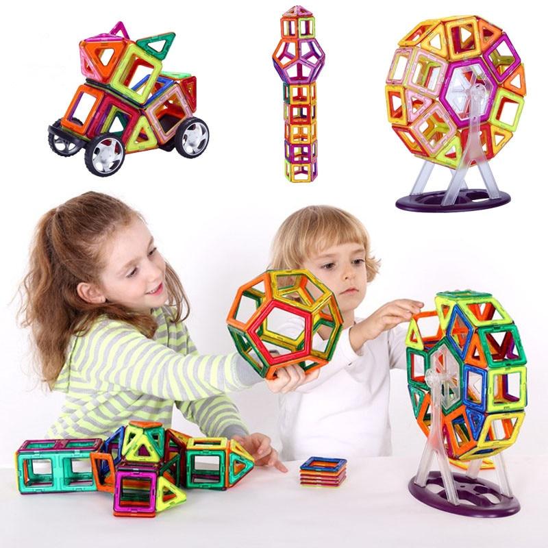 Meilleurs jouets magnétiques 40 pièces/boîte professionnelle enfants concepteur magnétique éducatif bricolage modèle combat inséré blocs feuille pour les enfants