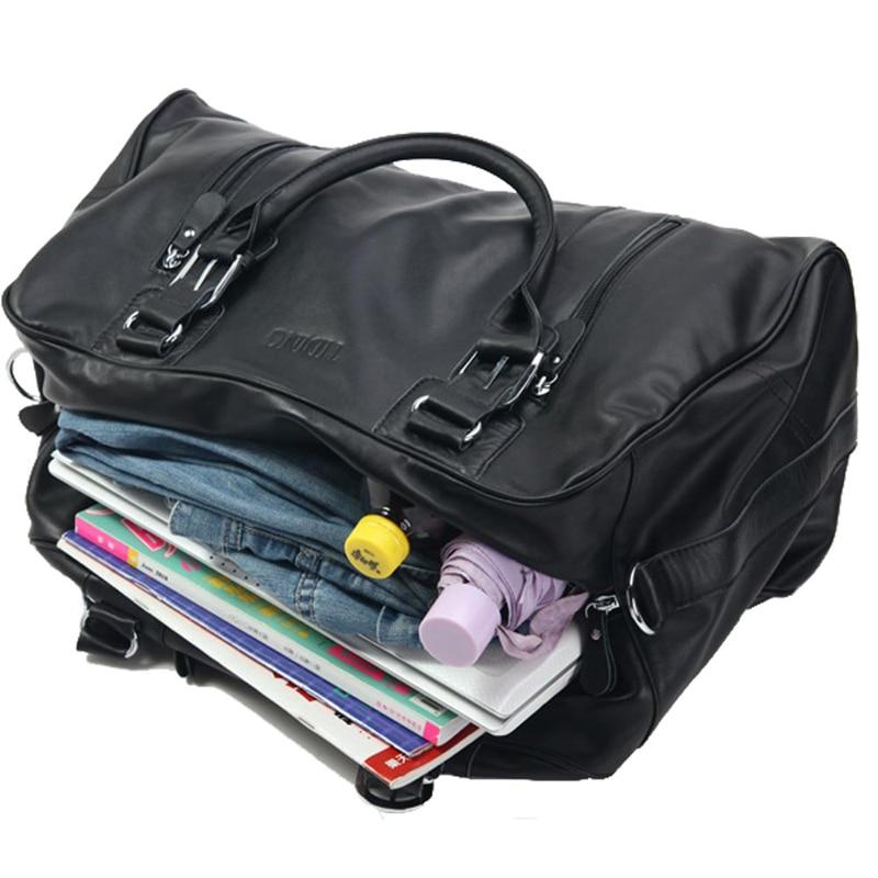 29a03fe228cbd0 Tiding Genuine Leather Large Capacity Durable Duffel Travel Bag ...