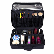 Women Professional Makeup Organizer Large Capacity Storage Case Oxford Cosmetic Bag High Quality Casual Disassembly Suitcase