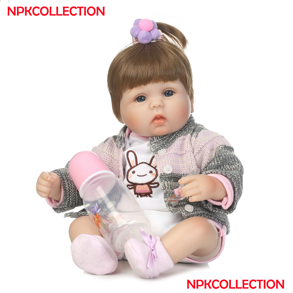 100% Quality Npkcollection Girl Doll Reborn Cute 1840cm Silicone Reborn Baby Dolls Toys For Child Bebes Reborn Meninabonecas Juguetes Waterproof Dolls Shock-Resistant And Antimagnetic