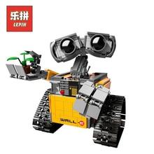 Лепин 16003 687 шт. идея Робот WALL E Строительный набор Наборы кирпич блоки Брок игрушки модель Bringuedos LegoINGlys 21303 для детская