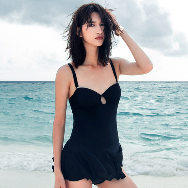 YLSSWIM 2017 top women swimwear/swimsuit/bathing suit/one pieces sexy with solid hollow out helter top black,swimwear/1207 new hot sexy high quality two zipper japanese sukumizu school swimsuit one pieces slimming swimsuit women bathing suit with pad