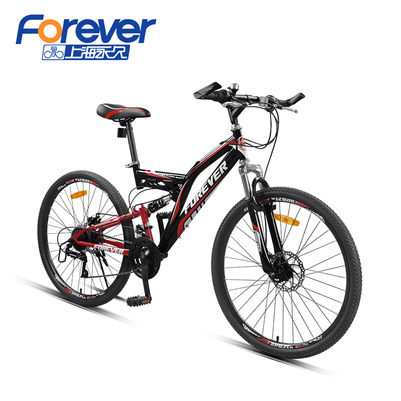 Forever Mountain Bike 24 font b Speed b font soft tail frame font b bicycle b