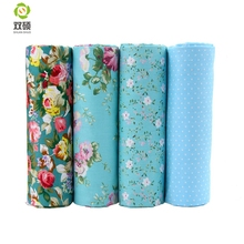 Bule Color Patchwork Cotton Fabric Fat Quaters Tilda Cloth Quilting Patchwork Fabrics For Sewing Doll Choth 4pcs/lots 40*50CM(Hong Kong,China)