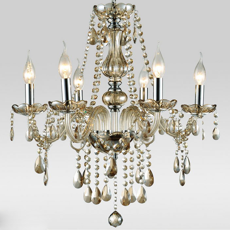 Chandelier Crystal Russia Living Room lustres de cristal Home Lighting Indoor Lamp D55cm H60cm Shipping from Moscow / China