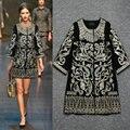 Тенденция национальный вышивка золото вышитая женское плащ верхней одежды пальто
