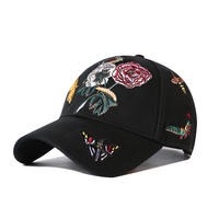 MTTZSYLHH casual baseball cap European and American stereo embroidery spring and summer baseball cap novelty outdoor couple