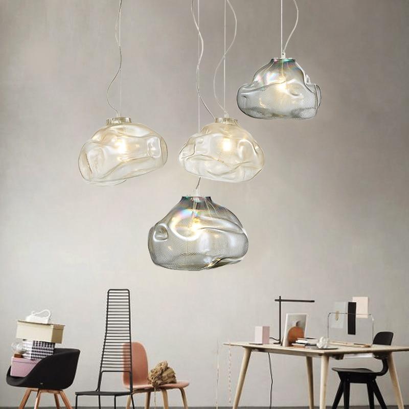 Nordic Post Modern Luxury Glass Pendant Lights Cloud Lamp for Living Room Bedroom Restaurant Bar Indoor Lighting Fixtures Decor цена 2017