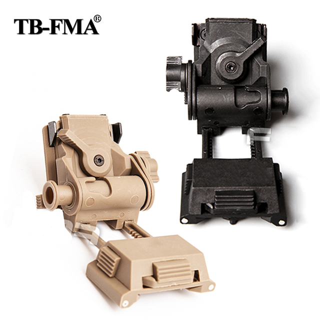 TB-FMA New Airsoft Paintball L4G24 Night Vision Googgles NVG 100% Plastic Helmet Mount Black for Tactical Helmet