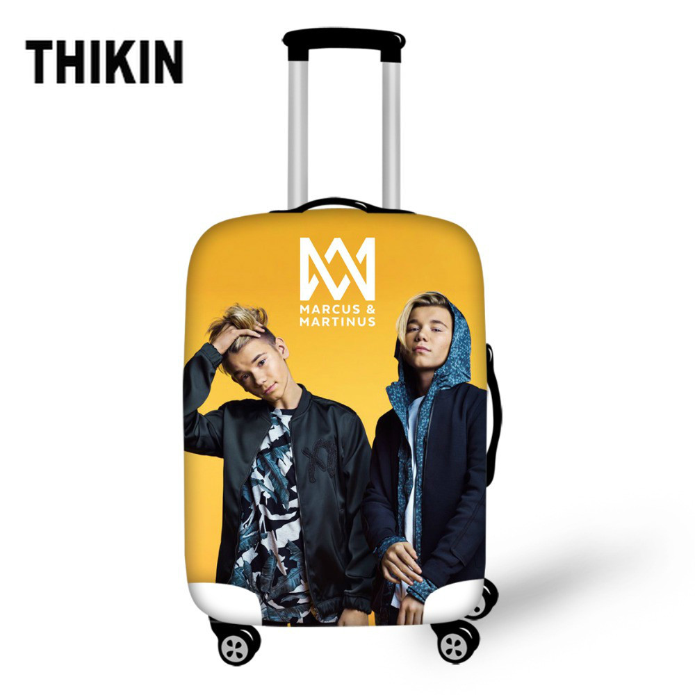 THIKIN Girls Luggage Protective Cover Marcus And Martinus Fashion Trolley Case Dust Cover For Women Suitcase Cover 18-30 Inch