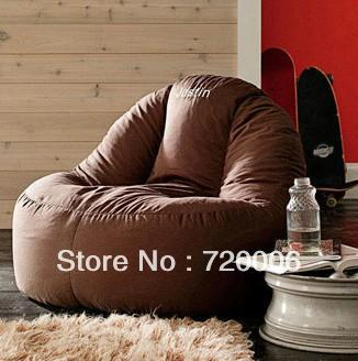 Wholesale Living Room Leisure Comfortable Suede Beanbag Chair Relax With Back