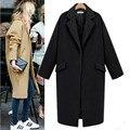 2017 Moda Outono Inverno Mulheres Jaqueta de Inverno Casaco de Lã Solta Imitação Cashmere Outerwear Revestimento Acolchoado Casaco