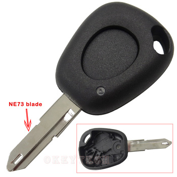 Uncut Blade 1 Button Car Key Shell Case Fob With Battery Holder Auto Accessories For RENAULT Duster Twingo Dokker Master Keyless image