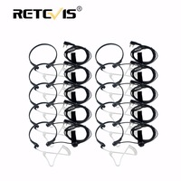 10pcs Throat Mic PTT Earpiece Covert Acoustic Tube Headphone For Kenwood Retevis RT5R H777 For Baofeng UV5R Bf 888S Walk Talk