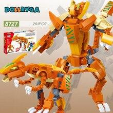 DOLLRYGA 201pcs DIY Robot Deformation Figures Building Blocks  knutselen kinderen Toy for Children Block jouet enfant