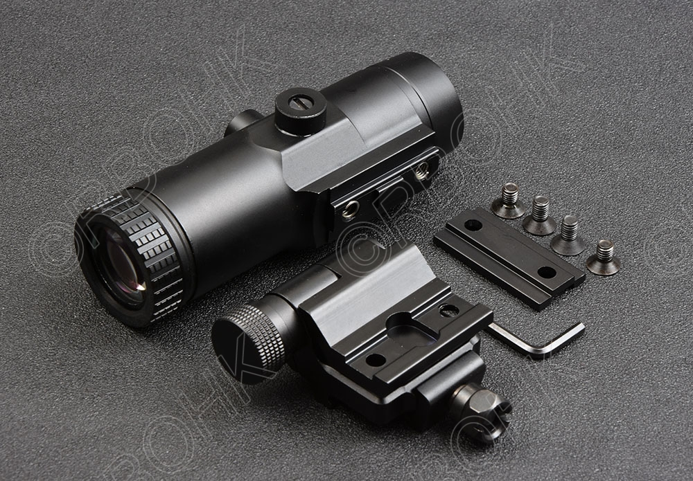 Тактический Голографическая Красный точка зрения Область 3x лупа для Сторона Флип Пикатинни Охота Стрельба R4193