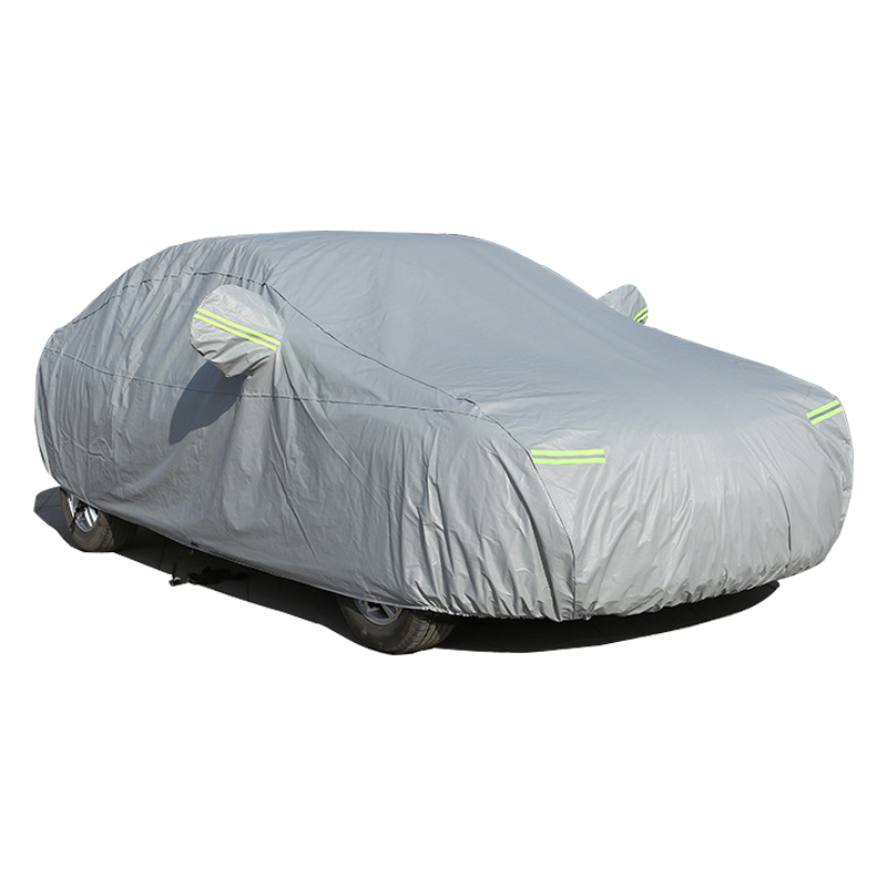 Car Cover For <font><b>Audi</b></font> A3 A4 A4L A6L <font><b>A8</b></font> With Side Door Opening Snow Dust Protection Car Cover Sun Shade <font><b>Hood</b></font> Full Cover Anti-theft image