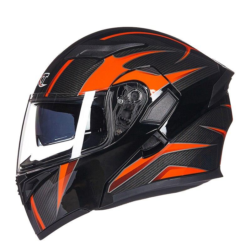 Haute qualité Flip Up casque de course modulaire double lentille moto rcycle casque intégral casques de sécurité Casco capacete casque moto M L XL