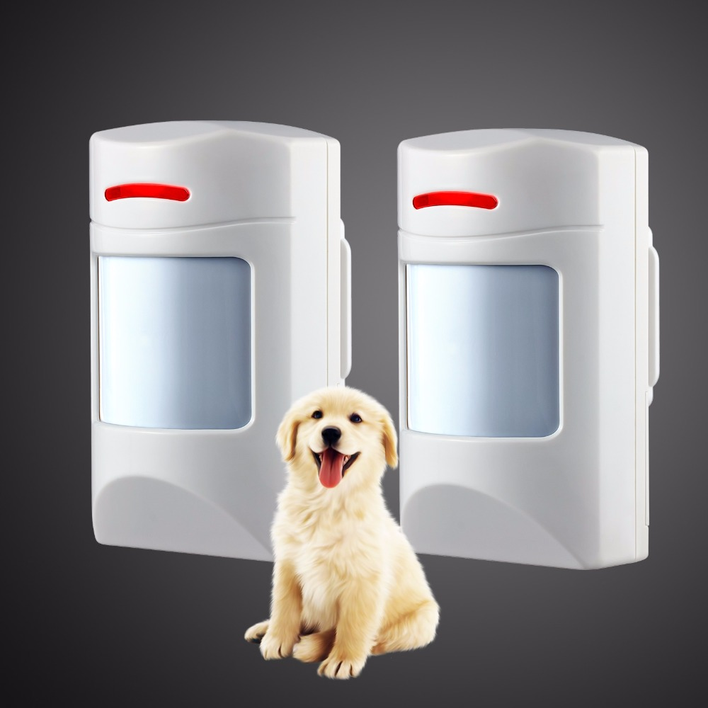 Wireless 433Mhz Pet Immune Motion PIR Detector 2 PCS For  Security Home GSM Alarm System Security anti-pet immunity
